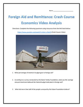 Foreign Aid and Remittance: Crash Course Economics Video Analysis- with Key