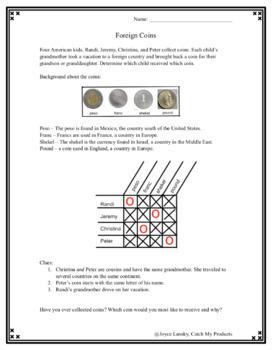 Foreign Coins Logic Problem