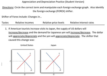 Foreign Exchange Worksheet
