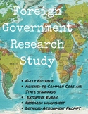Foreign Government Research Study Comparative Country Proj
