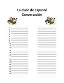 Foreign Language Conversation Worksheet