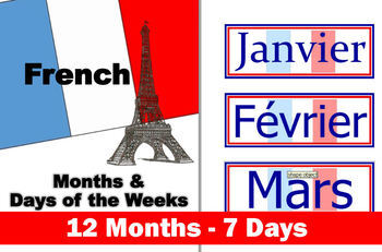 Foreign Language (FRENCH) Months and Days of the Week Word Wall