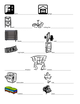 Foreign Language House and Home Vocabulary