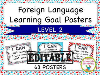 Foreign Language Learning Goal Posters:  Level 2