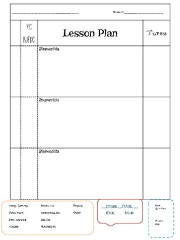 Foreign Language Lesson Plan TemplateBlock Schedule By Srta Libertad - Lesson plan schedule template