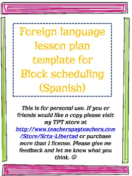 foreign language lesson plan template teaching resources teachers