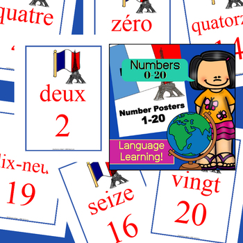 Foreign Language Posters (FRENCH) Numbers 1-20