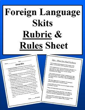 Foreign Language Skit Rubric & Rules