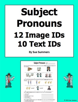 Subject Pronoun 12 Image IDs and 10 Text IDs