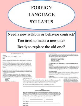 Foreign Language Syllabus & Behavioral Contract