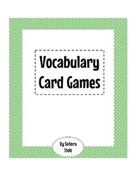 Foreign Language Vocabulary Card Games