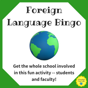 Foreign Language Week Human Bingo - Student and Staff Activity
