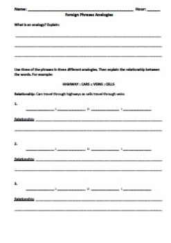 Foreign Phrases Curriculum for 7th and 8th grade Core Knowledge