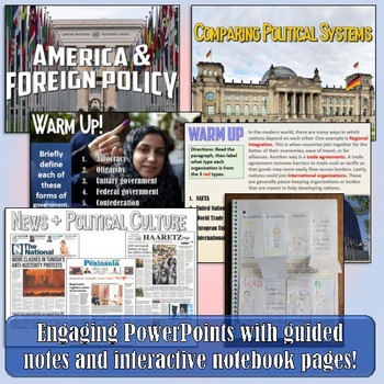 Foreign Policy American Government & Civics Unit Bundle