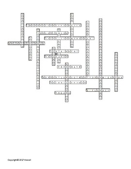Foreign Policy Crossword for American Government