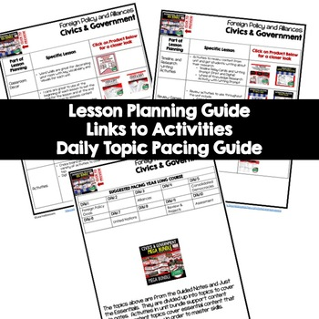Foreign Policy Lesson Plan Guide Civics Government