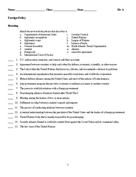 Foreign Policy Test