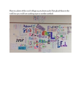 Foreign Word Collage