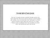 Foreign Words Task Cards