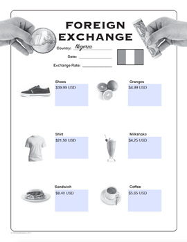 Foreign exchange worksheets