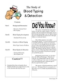 Forensic Science Blood Typing Unit