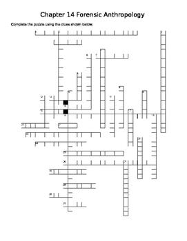 Forensic Anthropology Crossword