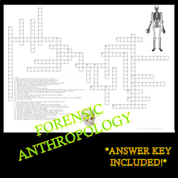 Forensic Anthropology Crossword Puzzle Review