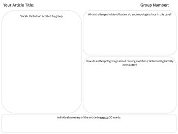 Forensic Anthropology Jigsaw Activity