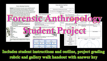Forensic Anthropology Student Project and Gallery Walk