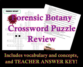 Forensic Botany Crossword Puzzle Review