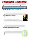 Forensic Career - Arson Investigator (Webquest)