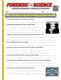 Forensic Career - Criminal Profiler (Webquest / Psychology / Law)