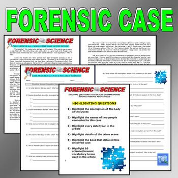 Forensic Case #13 : The Lady of the Dunes (science / psychology)