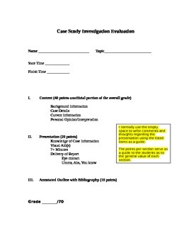 Forensic Science: Case Study Investigation