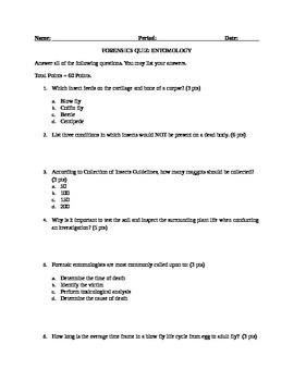 Forensic Entomology Quiz