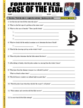 Forensic Files : A Case of the Flue (video worksheet)