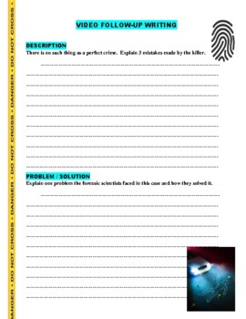 Forensic Files : A Leg to Stand On (video worksheet)