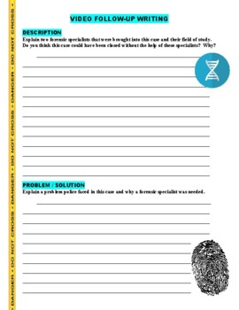 Forensic Files : A Novel Idea (video worksheet)
