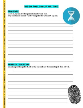 Forensic Files : A Wrong Foot (video worksheet)