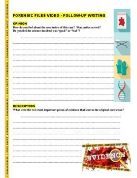 Forensic Files : Accident or Murder?  (video worksheet)