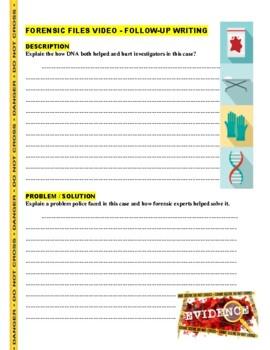 Forensic Files : Bad Blood (video worksheet)