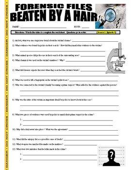 Forensic Files : Beaten By a Hair (video worksheet)