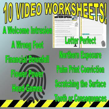 Forensic Files : Bundle Package 12 (10 Video Worksheets and More)