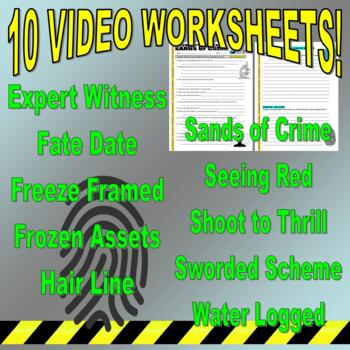 Forensic Files : Bundle Package 14 (10 video worksheets and more!)