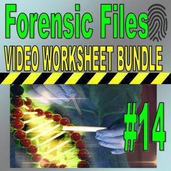 Forensic Files : Bundle Package 14 (10 video worksheets an