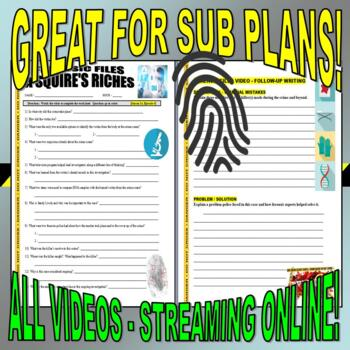 Forensic Files : Bundle Package 16 (10 Video Worksheets and More)