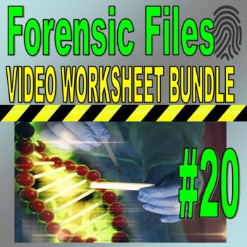 Forensic Files : Bundle Package #20 (10 video worksheets and more!) / Sub Plans