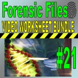 Forensic Files : Bundle Package #21 (10 video worksheets and more!) / Sub Plans