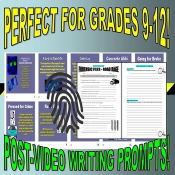 Forensic Files : Bundle Package 3 (10 video worksheets and more)