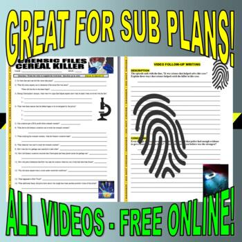 Forensic Files : Bundle Package 4 (10 episode video worksheets and more)